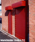 Curved Lath Shutter for use on premises